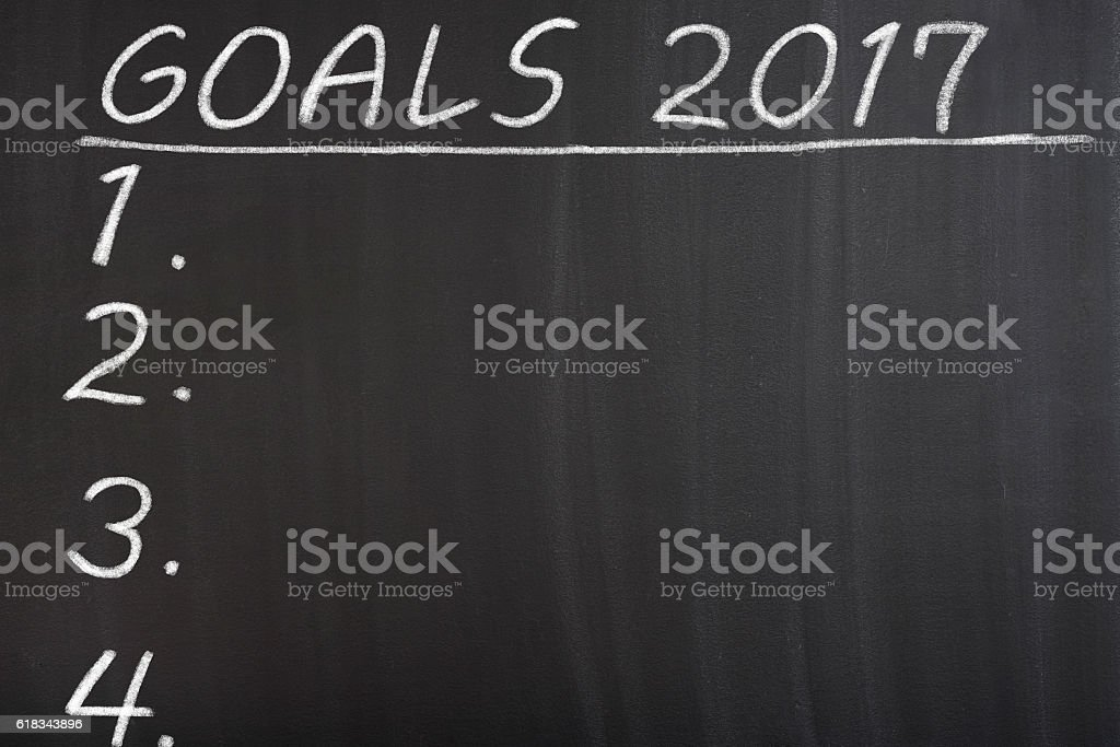Goals 2017 year stock photo