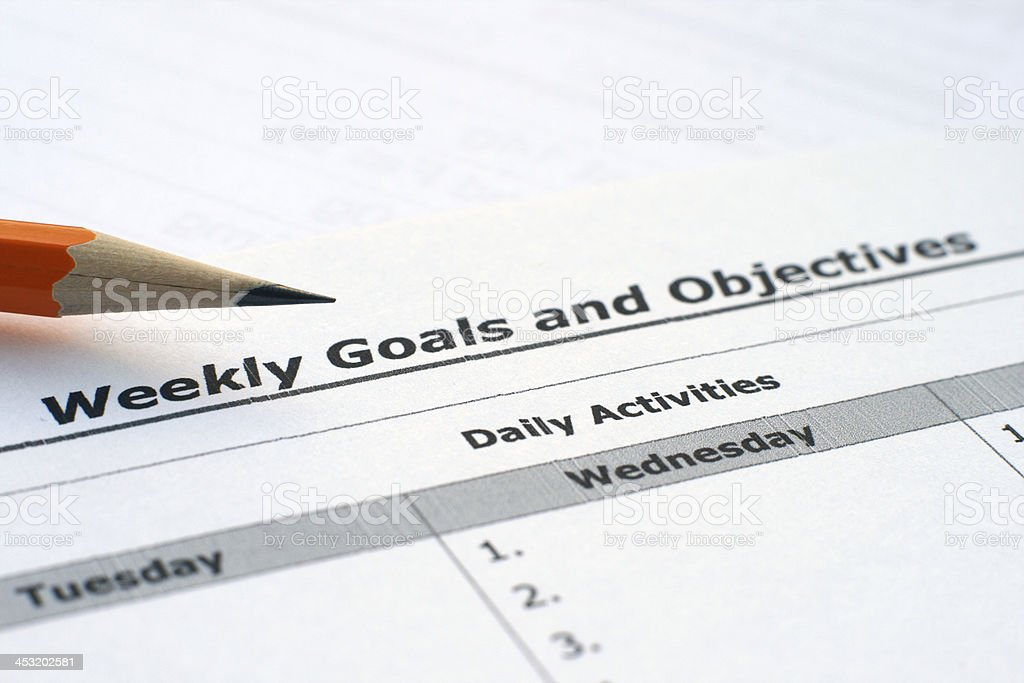 Goals and objectives royalty-free stock photo