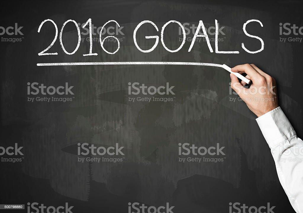 2016 Goals / Blackboard concept (Click for more) stock photo
