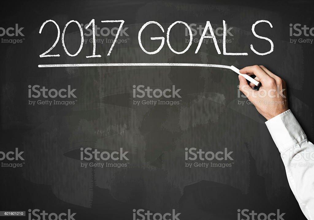 2017 Goals / Blackboard concept (Click for more) stock photo