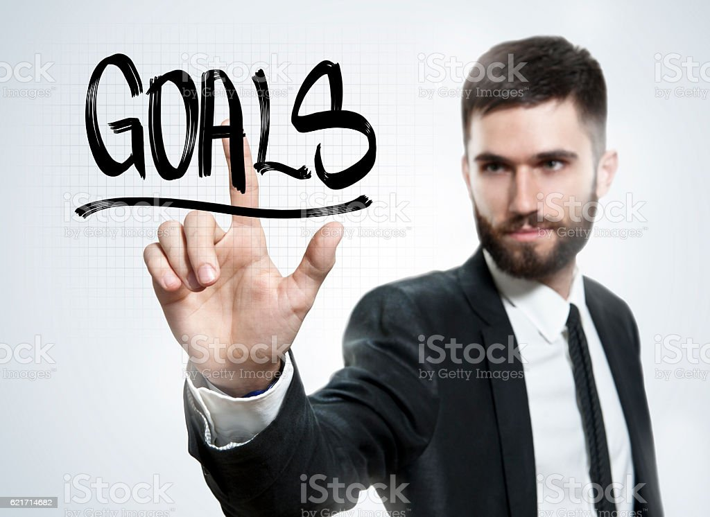 Goals / Business touch screen concept  (Click for mroe) stock photo