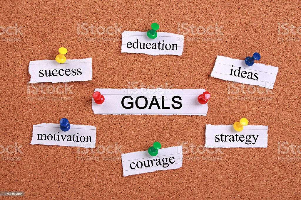 Goals concept stock photo