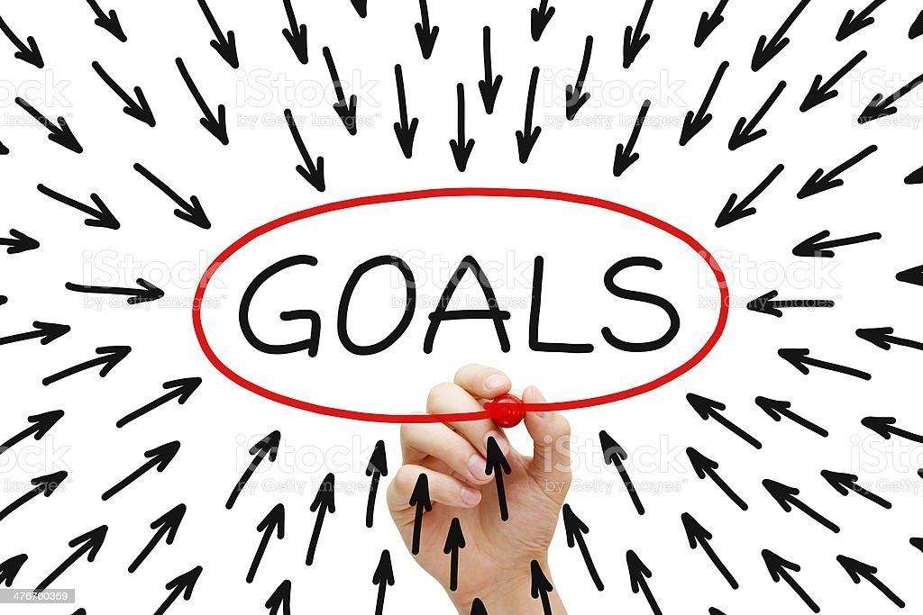 Goals Concept royalty-free stock photo