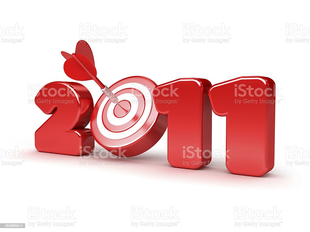 goals for 2011 royalty-free stock photo
