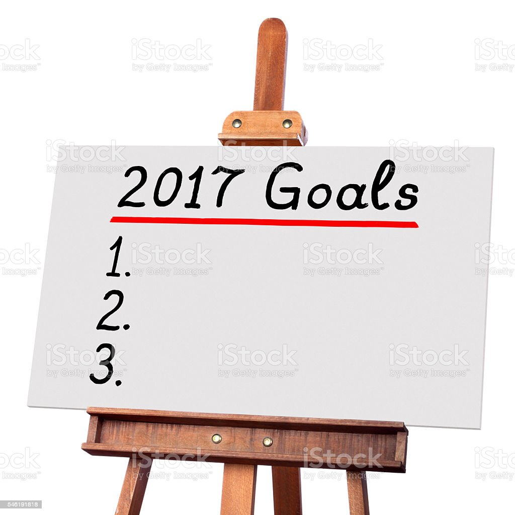 Goals for 2017 stock photo