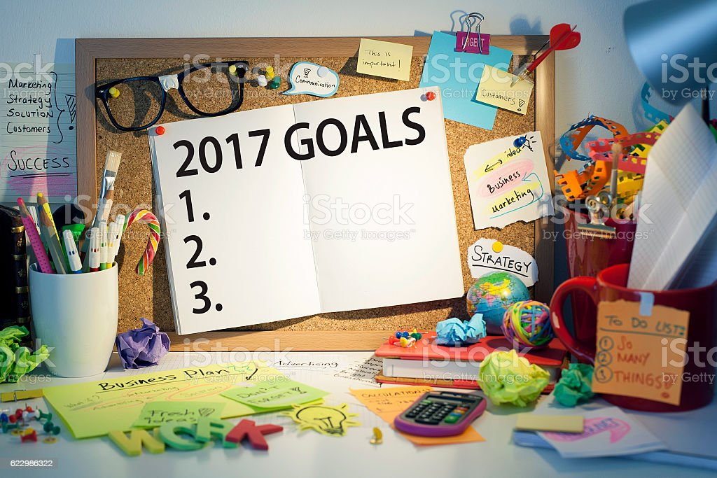Goals ideas and resolutions for 2017 stock photo