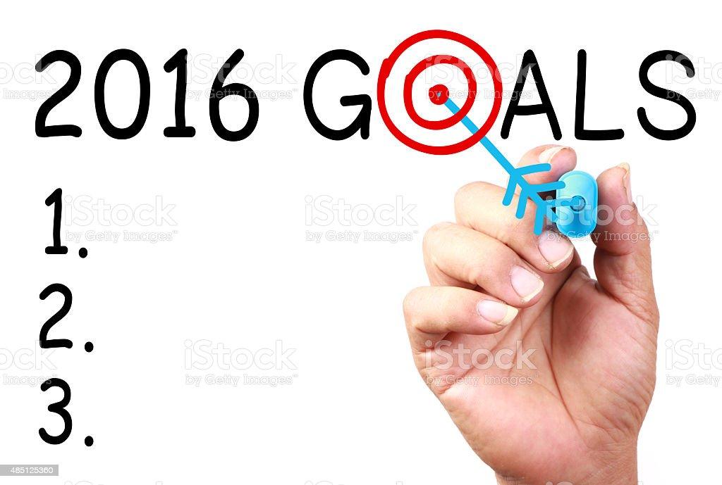 2016 Goals stock photo