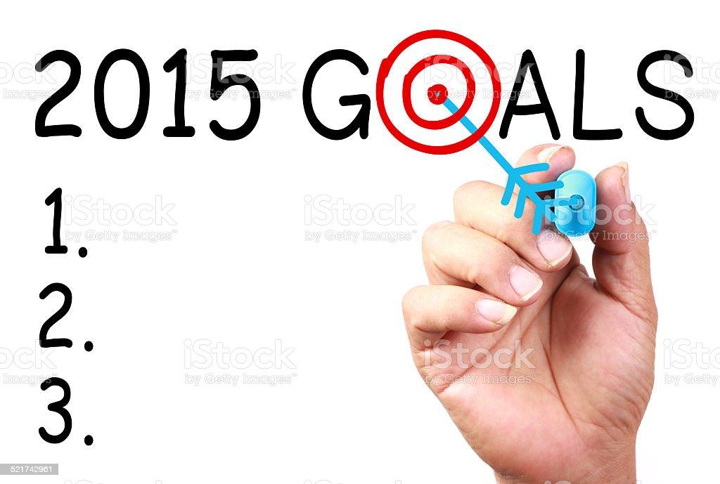 2015 Goals stock photo