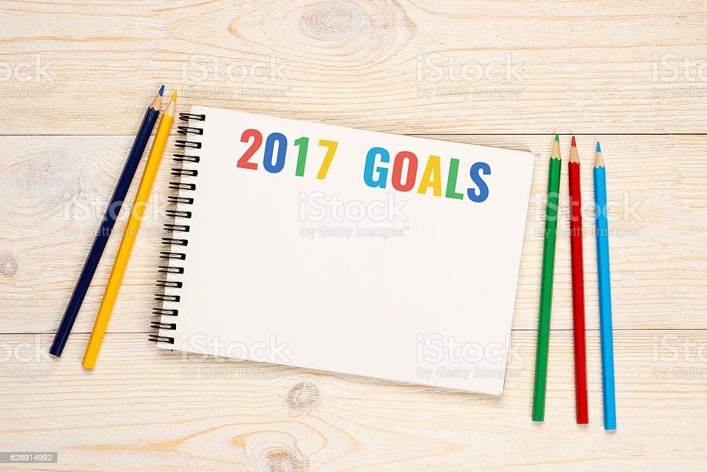 2017 goals stock photo