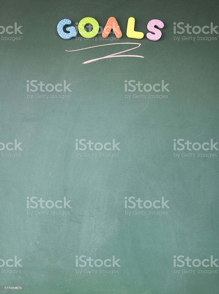 goals sign royalty-free stock photo