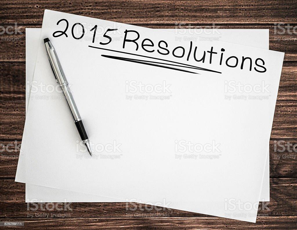 2015 goals sketch stock photo
