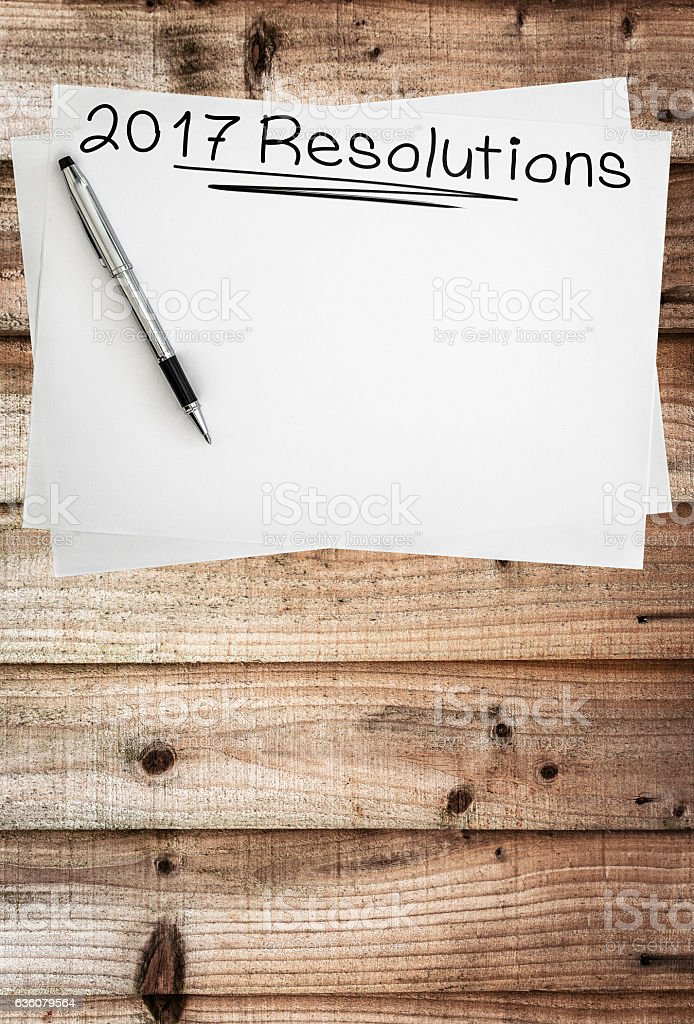 2017 goals sketch stock photo