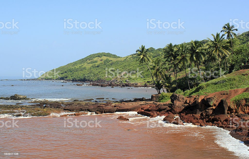 Goan Beach stock photo