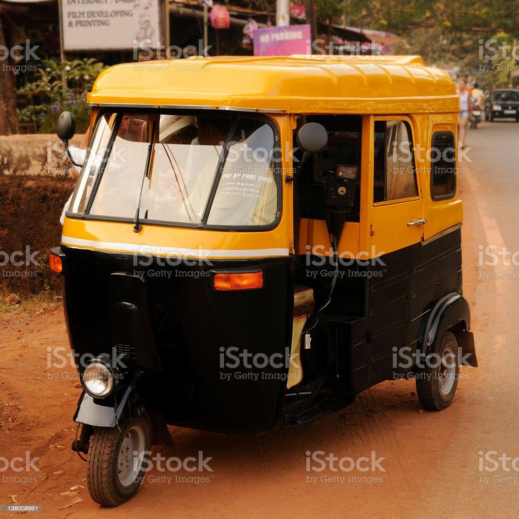 Goan Tuck-Tuck Taxi royalty-free stock photo