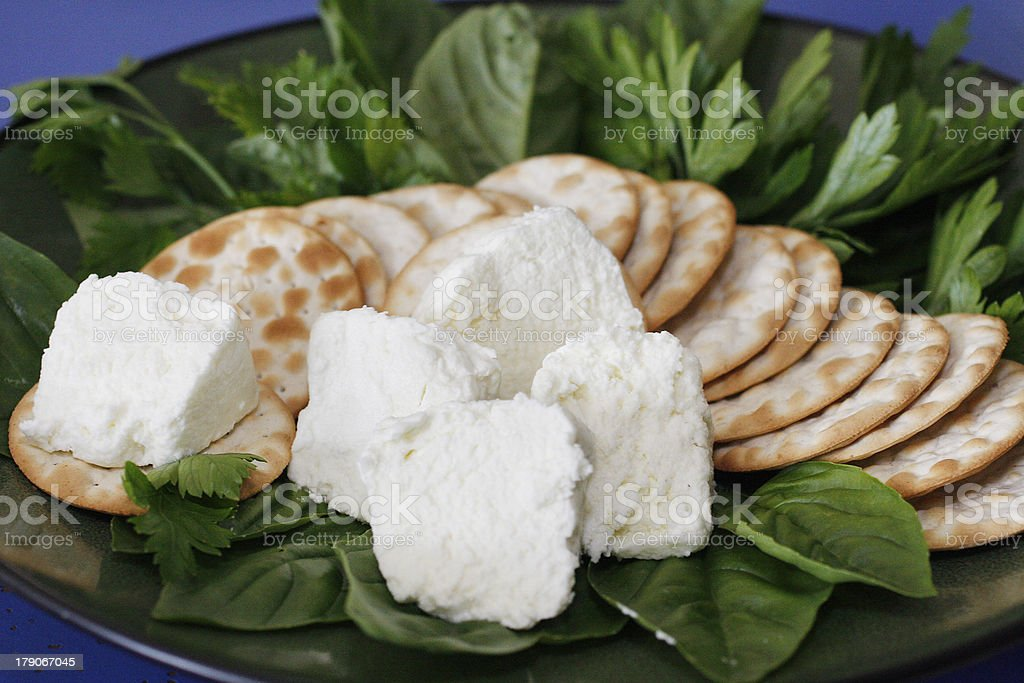 Goat Cheese Appetizer royalty-free stock photo