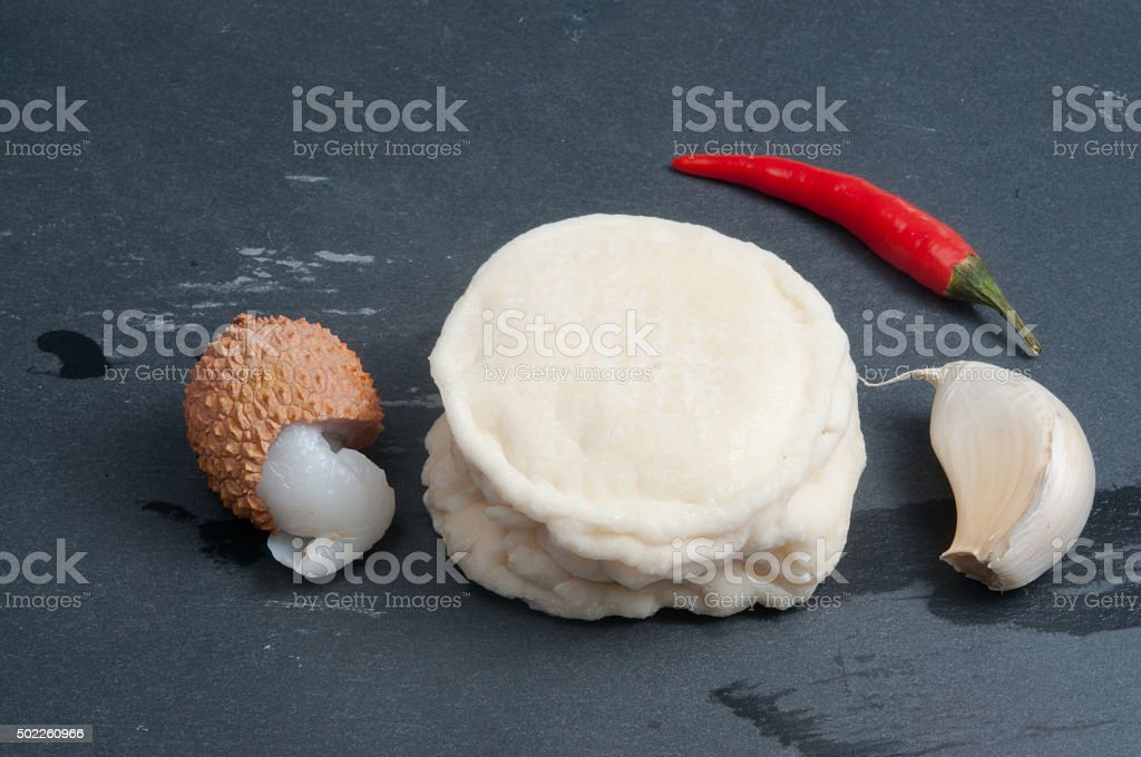 Goat cheese plate stock photo