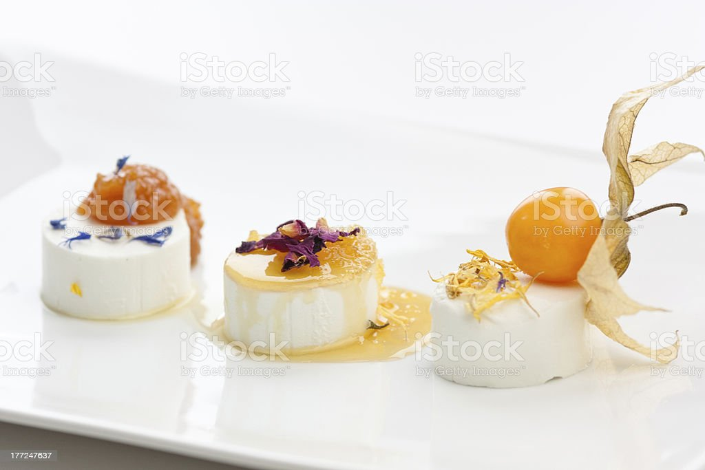Goat cheese selection stock photo