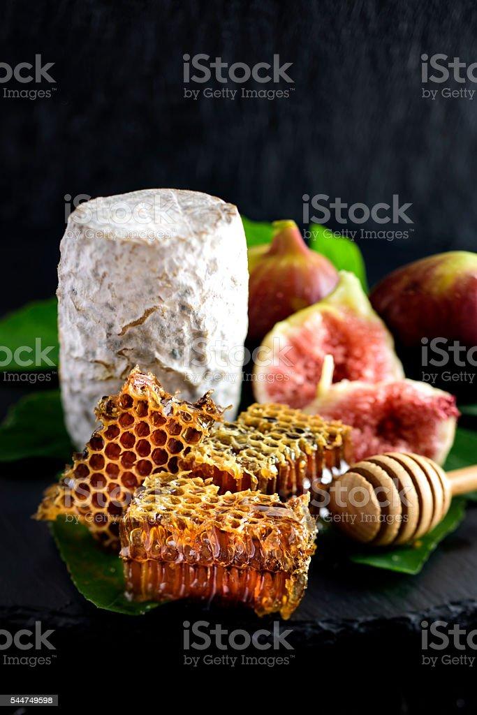 Goat Hard Cheese stock photo
