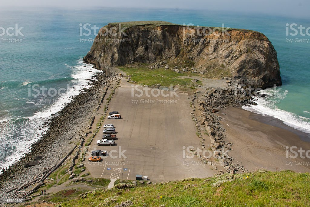 Goat Rock on the Sonoma County Coast California stock photo