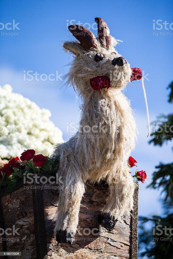Goat Rose Parade 2016 stock photo
