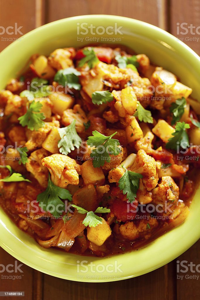 Gobi Aloo Indian curry dish royalty-free stock photo