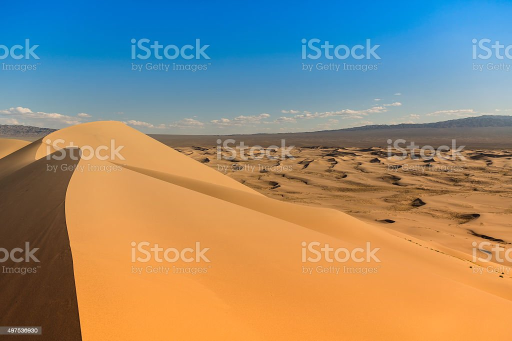 Gobi Desert Singing Sand Dunes stock photo