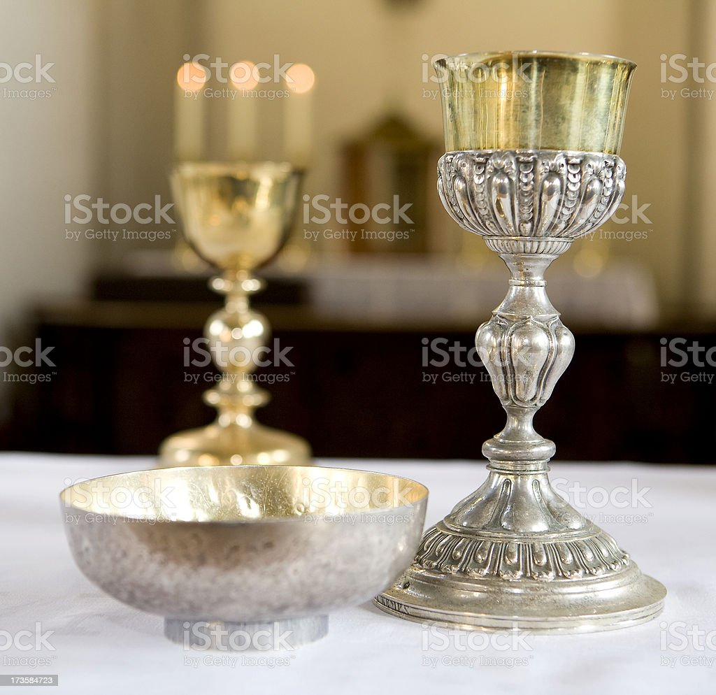 gobles in a catholic church stock photo
