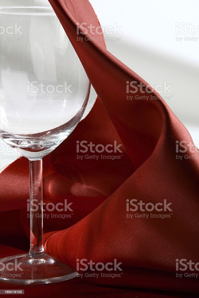 Goblet and Silk royalty-free stock photo