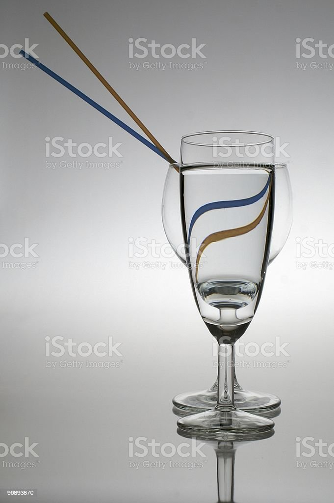 Goblets and straws stock photo