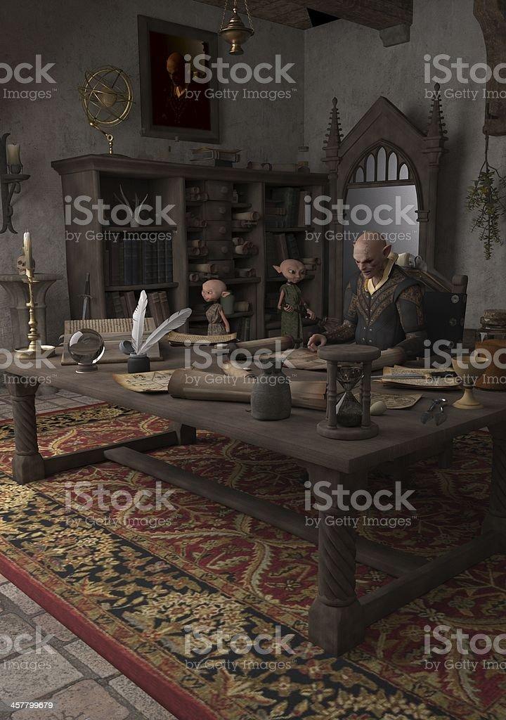 Goblin Alchemist stock photo