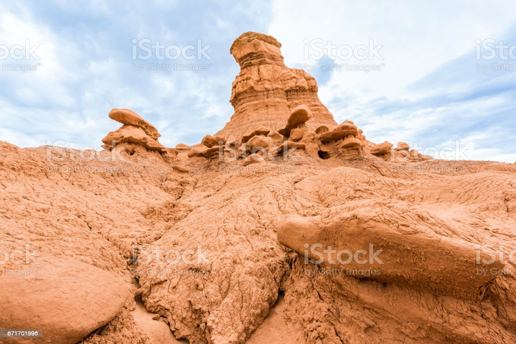 Goblin canyon hoodoos in valley state park stock photo