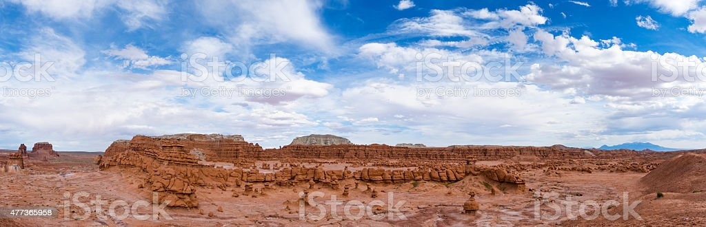 Goblin Valley Panorama stock photo