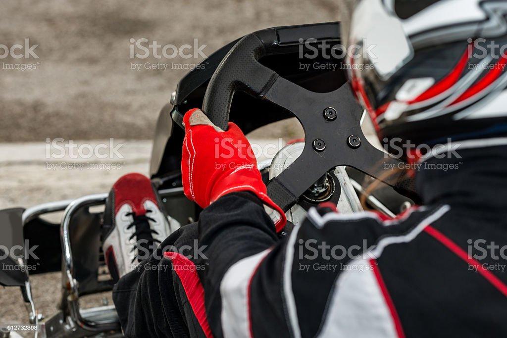 Go-cart close-up stock photo