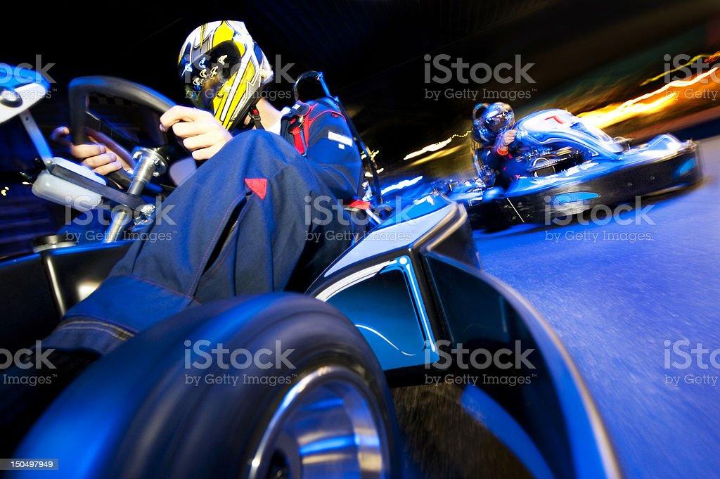 Go-Cart Race stock photo