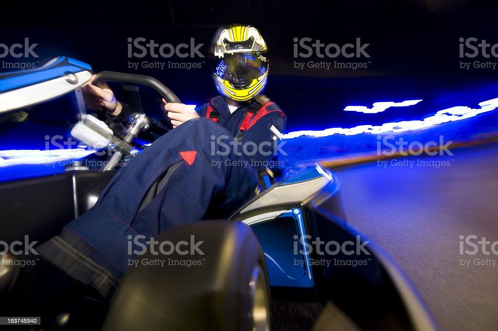 Go-Cart racing driver stock photo