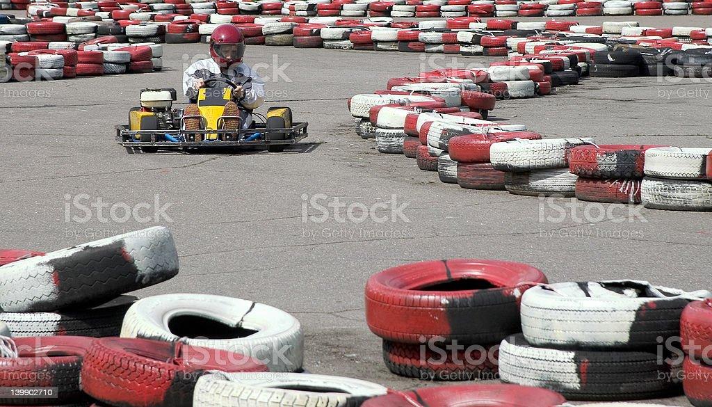 Go-cart racing stock photo