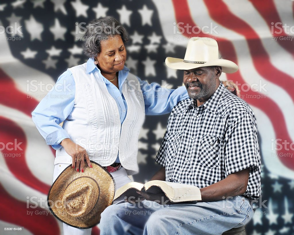 God and Country Cowboys stock photo