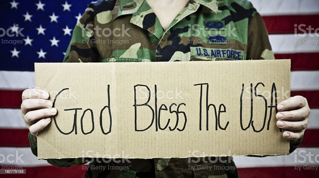 God Bless the USA royalty-free stock photo