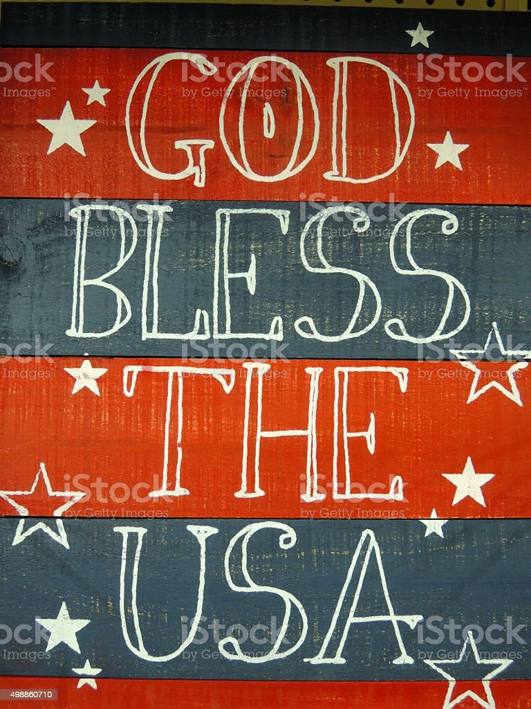 God Bless The USA Sign stock photo