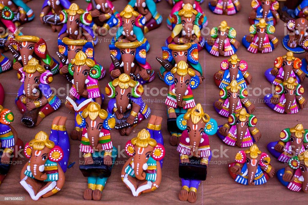 God Ganesha Sculpture stock photo