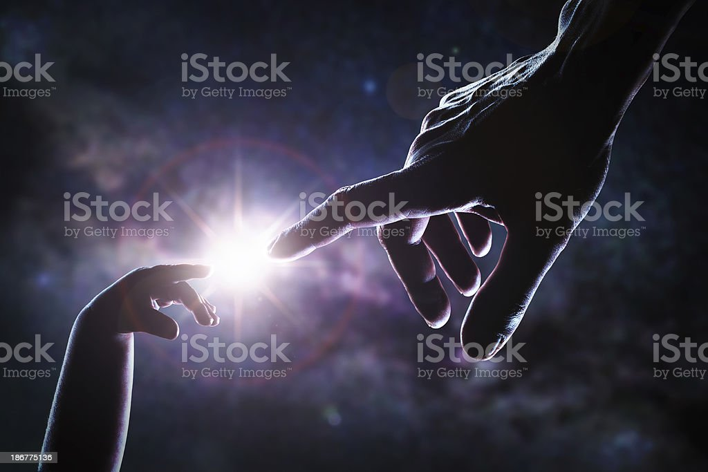 God giving new life stock photo