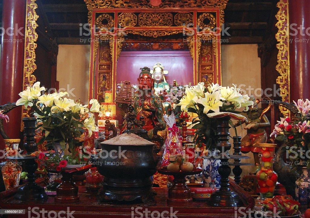 God in Ngoc Son Temple at Hanoi Vietnam stock photo