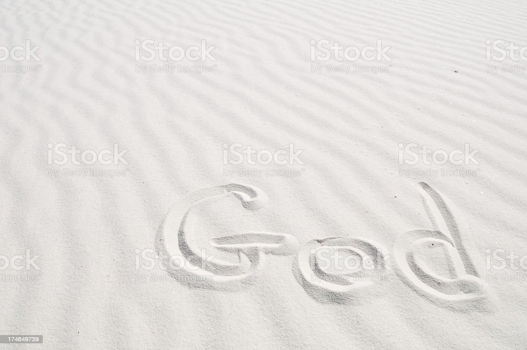 God In Sand royalty-free stock photo