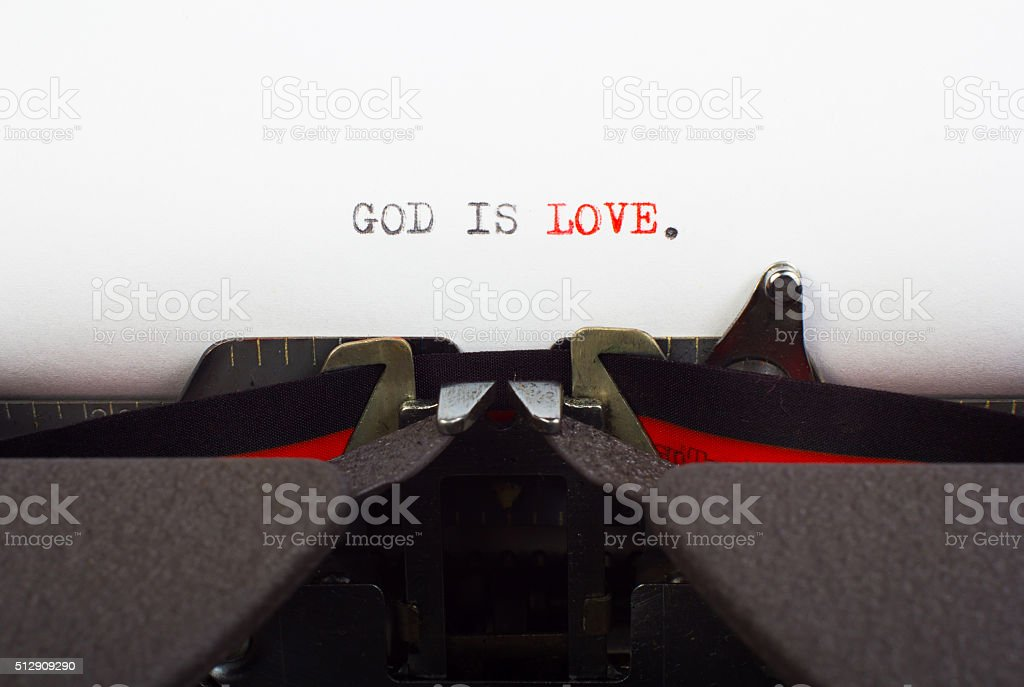 'God is love' stock photo