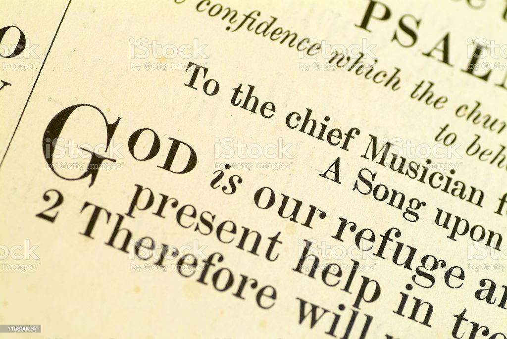 God is our refuge stock photo