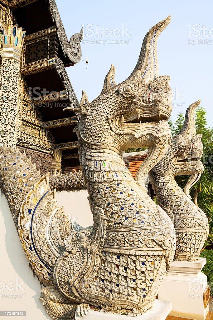 God nakhon at Wat Chedi Luang royalty-free stock photo