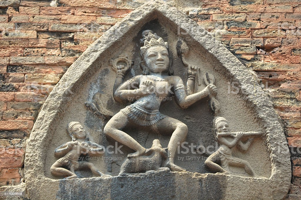 God of hinduism on the wall stock photo