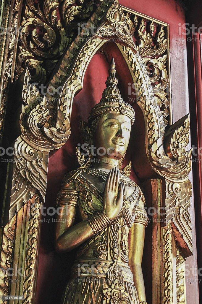 god on the door stock photo