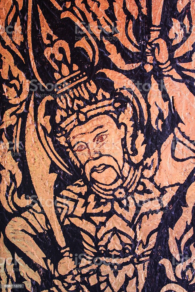 God  Thai wall painting royalty-free stock photo