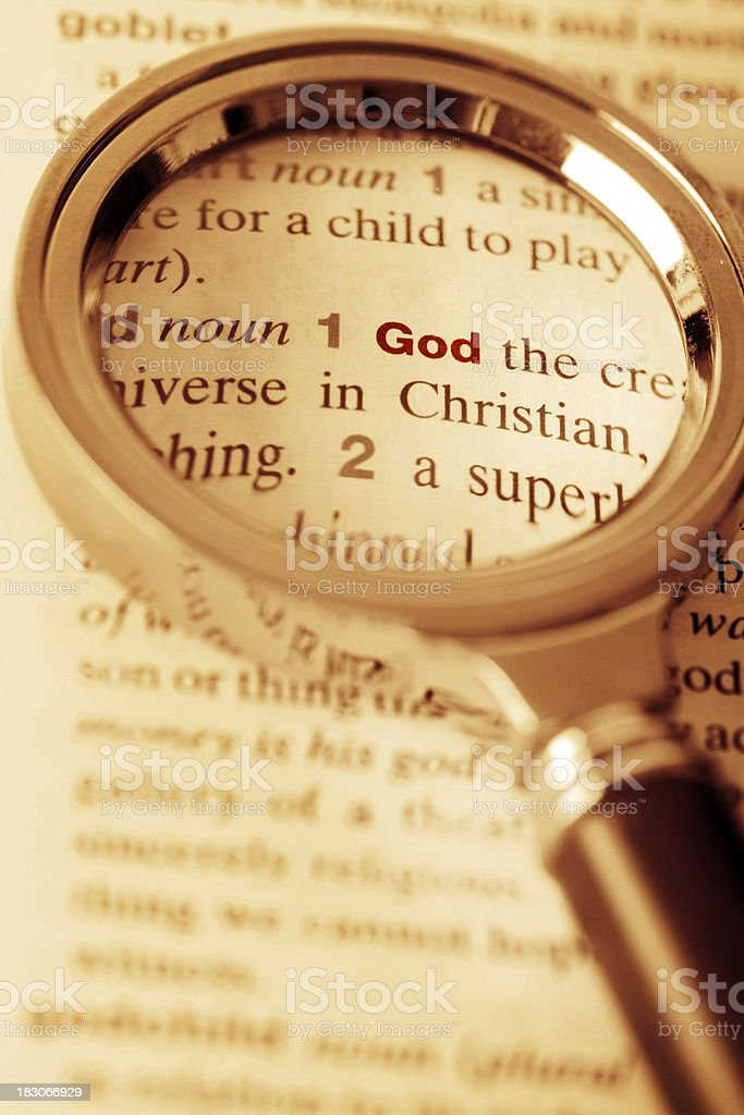 God Under the Magnifying Glass royalty-free stock photo